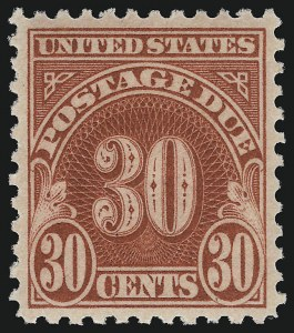 Sale Number 924, Lot Number 219, Later Postage Due Issues30c Carmine (J75), 30c Carmine (J75)