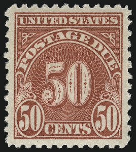 Sale Number 924, Lot Number 220, Later Postage Due Issues50c Carmine (J76), 50c Carmine (J76)