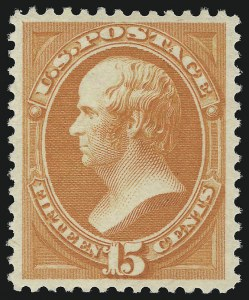 Sale Number 924, Lot Number 40, 1879 American Bank Note Co. Issue15c Red Orange (189). Mint N.H, 15c Red Orange (189). Mint N.H