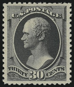 Sale Number 924, Lot Number 41, 1879 American Bank Note Co. Issue30c Full Black (190). Mint N.H, 30c Full Black (190). Mint N.H