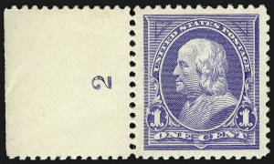 Sale Number 924, Lot Number 71, 1894 Unwatermarked Bureau Issue1c Ultramarine (246), 1c Ultramarine (246)