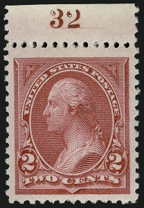 Sale Number 924, Lot Number 75, 1894 Unwatermarked Bureau Issue2c Carmine Lake, Ty. I (249), 2c Carmine Lake, Ty. I (249)