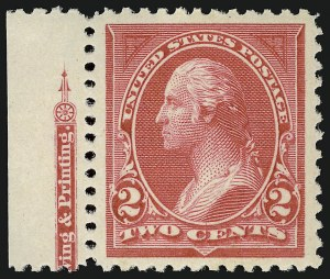 Sale Number 924, Lot Number 76, 1894 Unwatermarked Bureau Issue2c Carmine, Ty. I (250), 2c Carmine, Ty. I (250)