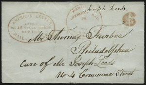 Sale Number 925, Lot Number 1007, American Letter Mail CompanyAmerican Letter Mail Company, Office, No. 16 State Street, Boston, American Letter Mail Company, Office, No. 16 State Street, Boston