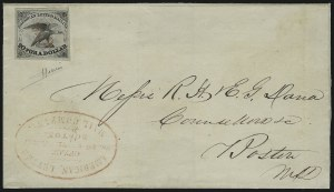 Sale Number 925, Lot Number 1011, American Letter Mail CompanyAmerican Letter Mail Co., 5c Black (5L1), American Letter Mail Co., 5c Black (5L1)