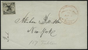 Sale Number 925, Lot Number 1012, American Letter Mail CompanyAmerican Letter Mail Co., 5c Black (5L1), American Letter Mail Co., 5c Black (5L1)