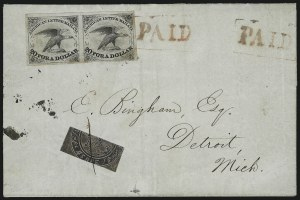 Sale Number 925, Lot Number 1013, American Letter Mail CompanyAmerican Letter Mail Co., 5c Black (5L1), American Letter Mail Co., 5c Black (5L1)