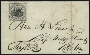 Sale Number 925, Lot Number 1014, American Letter Mail CompanyAmerican Letter Mail Co., (5c) Black on Gray (5L2), American Letter Mail Co., (5c) Black on Gray (5L2)