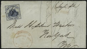 Sale Number 925, Lot Number 1017, American Letter Mail CompanyAmerican Letter Mail Co., (5c) Blue on Gray (5L3), American Letter Mail Co., (5c) Blue on Gray (5L3)