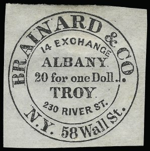 Sale Number 925, Lot Number 1018, Brainard & Co.Brainard & Co., (5c) Black (24L1), Brainard & Co., (5c) Black (24L1)