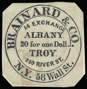 Sale Number 925, Lot Number 1019, Brainard & Co.Brainard & Co., (5c) Black (24L1), Brainard & Co., (5c) Black (24L1)