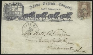 Sale Number 925, Lot Number 1051, Adams & Co.Adams Express Company, Port Royal, S.C., Adams Express Company, Port Royal, S.C.
