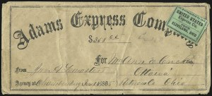 Sale Number 925, Lot Number 1053, Adams & Co.Forwarded by the United States Express Co., From Cleveland, Ohio, Forwarded by the United States Express Co., From Cleveland, Ohio