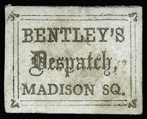Sale Number 925, Lot Number 1286, BeesleyBentley's Dispatch, New York N.Y., (unstated value) Gold (10L2), Bentley's Dispatch, New York N.Y., (unstated value) Gold (10L2)