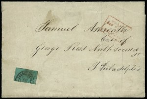 Sale Number 925, Lot Number 1382, BoydBoyd's City Express, New York N.Y., 2c Black on Bluish Green, Bisect (20L3 var), Boyd's City Express, New York N.Y., 2c Black on Bluish Green, Bisect (20L3 var)