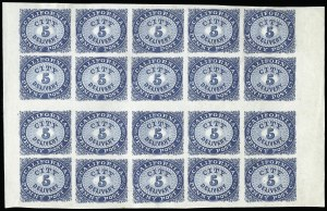 Sale Number 925, Lot Number 1446, California City Letter Express Co, California Penny Post Co.California Penny Post Co., San Francisco, 5c Blue (34L2), California Penny Post Co., San Francisco, 5c Blue (34L2)