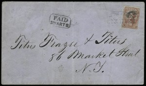 Sale Number 925, Lot Number 1490, CornwellCornwell's Madison Square Post Office, New York N.Y., (1c) Red (52L2), Cornwell's Madison Square Post Office, New York N.Y., (1c) Red (52L2)