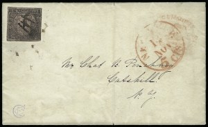 Sale Number 925, Lot Number 1495, CornwellCummings' City Post, New York N.Y., 2c Black on Rose Glazed (55L1), Cummings' City Post, New York N.Y., 2c Black on Rose Glazed (55L1)