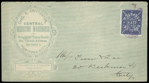 Sale Number 925, Lot Number 1501, DavisDouglas' City Despatch, New York N.Y., (2c) Blue (59L2), Douglas' City Despatch, New York N.Y., (2c) Blue (59L2)