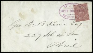 Sale Number 925, Lot Number 1560, GrafflinGuy's City Despatch, Philadelphia Pa., (1c) Pink (74L1), Guy's City Despatch, Philadelphia Pa., (1c) Pink (74L1)