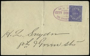 Sale Number 925, Lot Number 1561, GrafflinGuy's City Despatch, Philadelphia Pa., (1c) Blue (74L2), Guy's City Despatch, Philadelphia Pa., (1c) Blue (74L2)