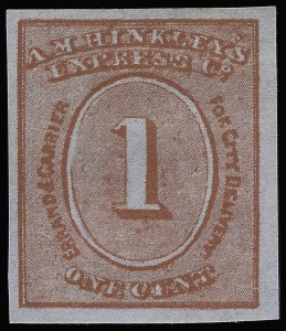 Sale Number 925, Lot Number 1570, HillA. M. Hinckley's Express Co., New York N.Y., 1c Red on Bluish (82L1), A. M. Hinckley's Express Co., New York N.Y., 1c Red on Bluish (82L1)