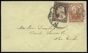 Sale Number 925, Lot Number 1692, SwartsSwarts' City Dispatch Post, New York N.Y., (2c) Red on Wove (136L4), Swarts' City Dispatch Post, New York N.Y., (2c) Red on Wove (136L4)