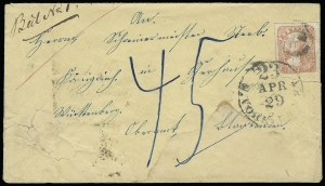 Sale Number 925, Lot Number 1696, SwartsSwarts' City Dispatch Post, New York N.Y., (1c) Red (136L9), Swarts' City Dispatch Post, New York N.Y., (1c) Red (136L9)