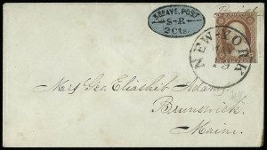 Sale Number 925, Lot Number 1713, Third Avenue Post OfficeThird Avenue Post Office, New York N.Y., 2c Black on Blue (139L4), Third Avenue Post Office, New York N.Y., 2c Black on Blue (139L4)