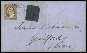 Sale Number 925, Lot Number 1719, Towle & Co. theu Walton & Co.Union Square Post Office, New York N.Y., 1c Black on Dark Green (141L1), Union Square Post Office, New York N.Y., 1c Black on Dark Green (141L1)