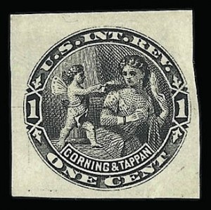 Sale Number 926, Lot Number 569, Private Die Perfumery StampsCorning & Tappan, 1c Black, Wmk. Paper, Imperforate (RT2d), Corning & Tappan, 1c Black, Wmk. Paper, Imperforate (RT2d)