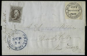 "Sale Number 927, Lot Number 1075, Martin Richardson BloodD. O. Blood & Co., Philadelphia Pa., (1c) Black, ""For the Post Office"" (15L8), D. O. Blood & Co., Philadelphia Pa., (1c) Black, ""For the Post Office"" (15L8)"
