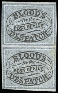 Sale Number 927, Lot Number 1090, Martin Richardson BloodBlood's City Despatch, Philadelphia Pa., (unstated value) Black & Blue (15L10), Blood's City Despatch, Philadelphia Pa., (unstated value) Black & Blue (15L10)