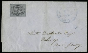 Sale Number 927, Lot Number 1092, Martin Richardson BloodBlood's City Despatch, Philadelphia Pa., (unstated value) Black & Blue (15L10), Blood's City Despatch, Philadelphia Pa., (unstated value) Black & Blue (15L10)