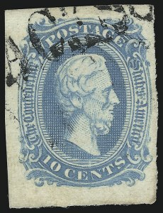 Sale Number 927, Lot Number 1615, General Issues Off Cover10c Milky Blue, Die A (11a), 10c Milky Blue, Die A (11a)