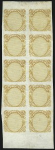 Sale Number 930, Lot Number 1140, Essays, Proofs and Specimens: 1869 Pictorial Issue90c Frame Only, Plate Essay on Stamp Paper (122-E3), 90c Frame Only, Plate Essay on Stamp Paper (122-E3)