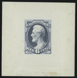 Sale Number 930, Lot Number 1153, Essays, Proofs and Specimens: Bank Note Issues6c 1873 Issue, Goodall Small Die Proofs (159TC2), 6c 1873 Issue, Goodall Small Die Proofs (159TC2)