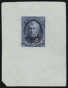 Sale Number 930, Lot Number 1164, Essays, Proofs and Specimens: Bank Note Issues5c Blue, Large Die Proof on India (185P1), 5c Blue, Large Die Proof on India (185P1)