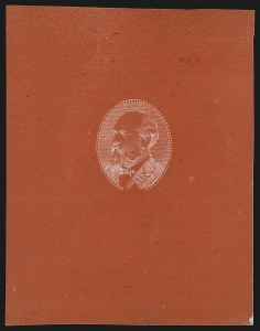 Sale Number 930, Lot Number 1171, Essays, Proofs and Specimens: Bank Note Issues(5c) Garfield, Bright Red Orange, Negative Impression Large Die Essay on Thick Wove (205-E3a var), (5c) Garfield, Bright Red Orange, Negative Impression Large Die Essay on Thick Wove (205-E3a var)