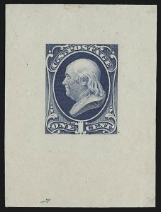 Sale Number 930, Lot Number 1175, Essays, Proofs and Specimens: Bank Note Issues1c Gray Blue, Die Essay on India (206-E6a), 1c Gray Blue, Die Essay on India (206-E6a)