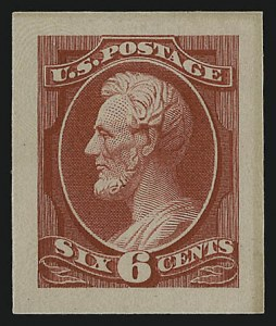 Sale Number 930, Lot Number 1177, Essays, Proofs and Specimens: Bank Note Issues6c Rose, Panama-Pacific Small Die Proof on Wove (208P2a), 6c Rose, Panama-Pacific Small Die Proof on Wove (208P2a)