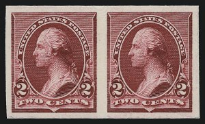 Sale Number 930, Lot Number 1190, Essays, Proofs and Specimens: Bank Note Issues2c Lake, Carmine, Plate Proofs on Card (219DP4, 220P4), 2c Lake, Carmine, Plate Proofs on Card (219DP4, 220P4)