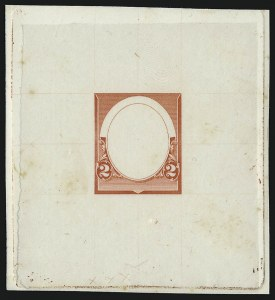 Sale Number 930, Lot Number 1191, Essays, Proofs and Specimens: Bank Note Issues2c Red Orange, Frame Only, Die Essay on India (220-E8b), 2c Red Orange, Frame Only, Die Essay on India (220-E8b)