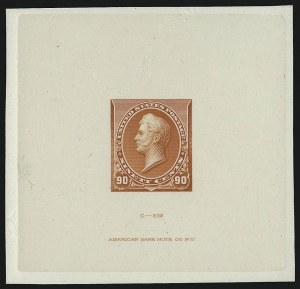 Sale Number 930, Lot Number 1194, Essays, Proofs and Specimens: Bank Note Issues4c-90c 1890-93 Issue, Large Die Proofs on India (222P1, 226P1, 227P1, 229P1), 4c-90c 1890-93 Issue, Large Die Proofs on India (222P1, 226P1, 227P1, 229P1)