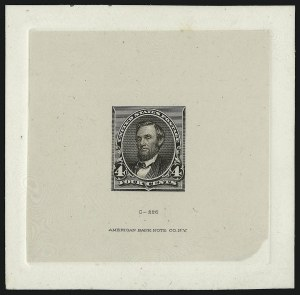 Sale Number 930, Lot Number 1195, Essays, Proofs and Specimens: Bank Note Issues4c Black Brown, Die Essay on India (222-E2), 4c Black Brown, Die Essay on India (222-E2)