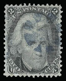 Sale Number 930, Lot Number 1813, 1867-68 Grilled Issue (Scott 79-101)2c Black, F. Grill (93), 2c Black, F. Grill (93)