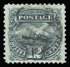 Sale Number 930, Lot Number 1914, 1869 Pictorial Issue (Scott 112-122)12c Green (117), 12c Green (117)