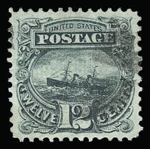 Sale Number 930, Lot Number 1915, 1869 Pictorial Issue (Scott 112-122)12c Green (117), 12c Green (117)