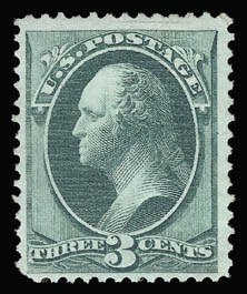 Sale Number 930, Lot Number 1986, 1870-71 National Bank Note Co. Grilled Issue (Scott 134-144)3c Green, Grill (136), 3c Green, Grill (136)