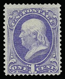 Sale Number 930, Lot Number 1999, 1870-71 National Bank Note Co. Ungrilled Issue (Scott 145-155)1c Ultramarine (145), 1c Ultramarine (145)